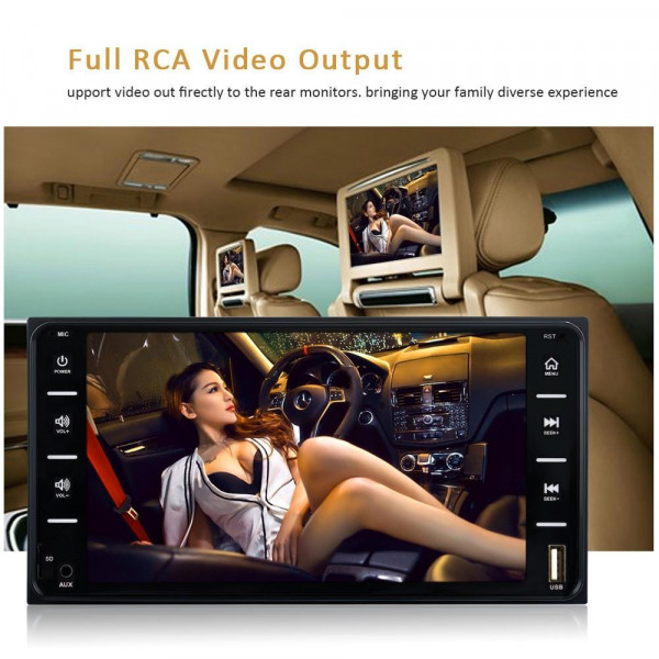 848V 16 7 inch Multi-touch Screen Car GPS Navigator, Support TF Card / USB / AUX / MP5 Player / Android & iPhone Mirror Links(Bl