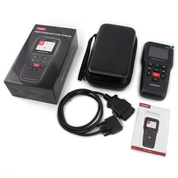 YAWOA YA401 Car Engine Fault Diagnostic Instrument OBD2 Car Fault Reading Card Battery Detector