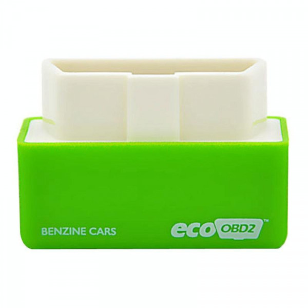 Super Mini EcoOBDII Plug and Drive Chip Tuning Box for Benzine, Lower Fuel and Lower Emission(Green)