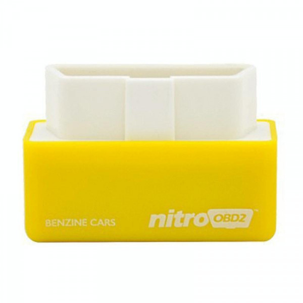 Super Mini EcoOBDII Plug and Drive Chip Tuning Box for Benzine, Lower Fuel and Lower Emission(Yellow)