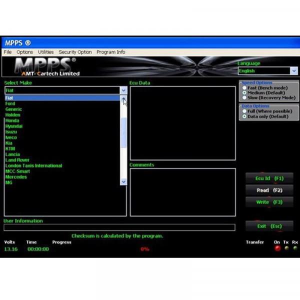 MPPS V16.1.02 ECU Chip Tuning Professional Diagnostic Tool for EDC15 / EDC16 / EDC17 Inkl CHECKSUM Read & Write Memory